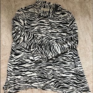 Jones New York Animal Zebra Print Blouse
